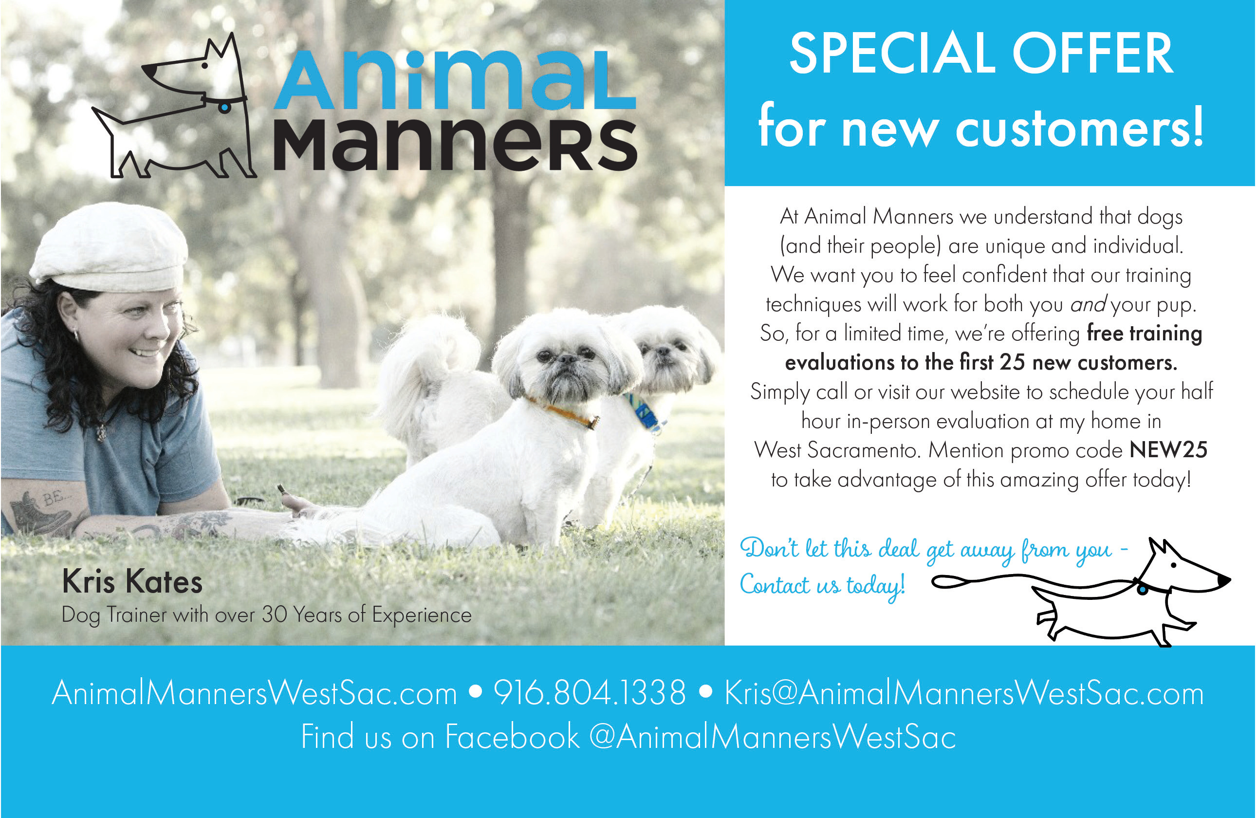 Animal Manners Informational Flyer