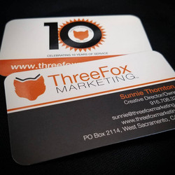 ThreeFox Marketing Business Card