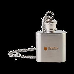 ThreeFox Marketing Flask Necklace