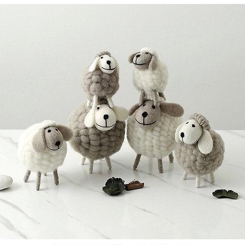 Plush Sheep Ornaments