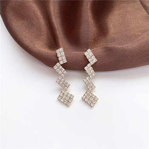 Geometric Square Stitching Earring