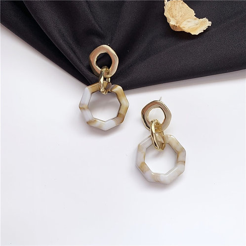 Gold Morandi Geometry Earring