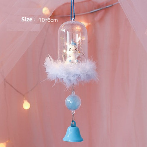 Wind Chime - Blue Unicorn with Light