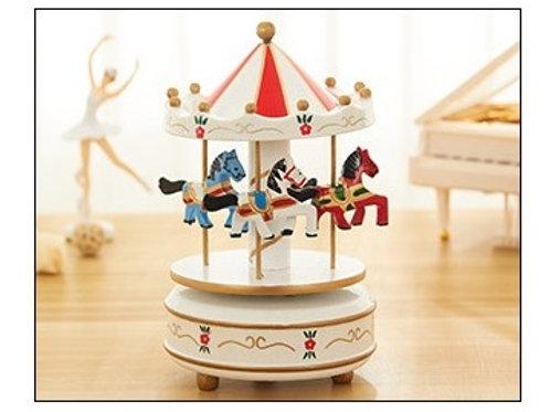 Carousel Musical Box - White