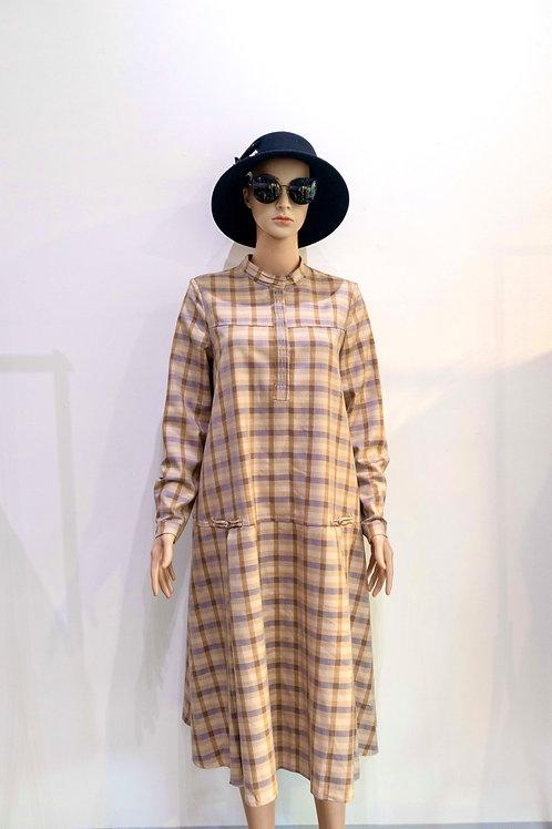 YANIDISI Plaid Dress