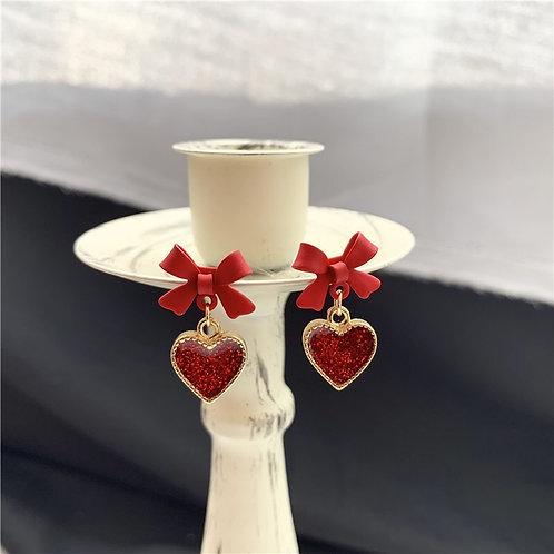 Bow Heart Earring