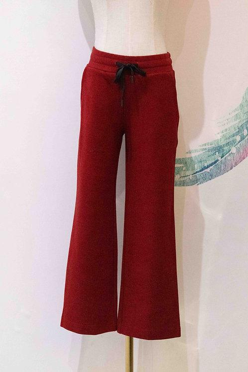 BALIJING Red Drawstring Trouser