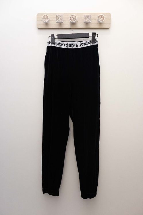 D.TWO Velvet Trouser - Black