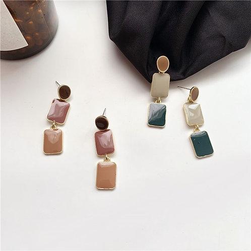 Morandi dripping glaze Earring