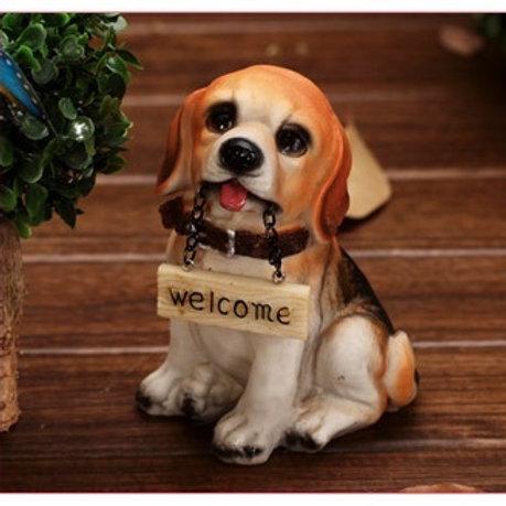 Welcome Dog - Orange and Black