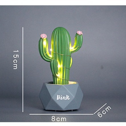 Cactus Night Light - Green
