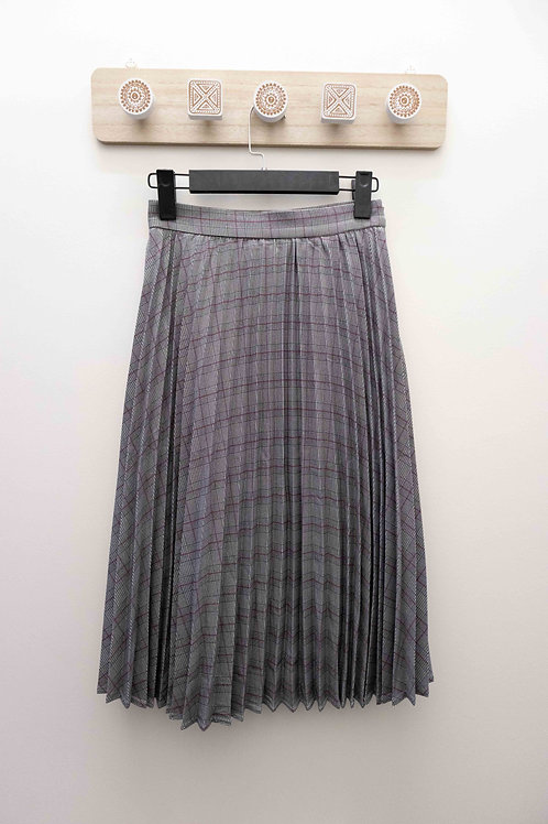 D.TWO Plaid Pleated Skirt