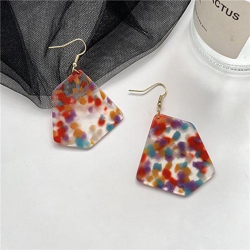 Colour Acrylic Earring