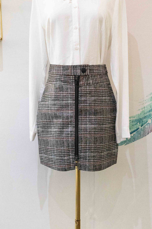 D.TWO PU Mini Skirt