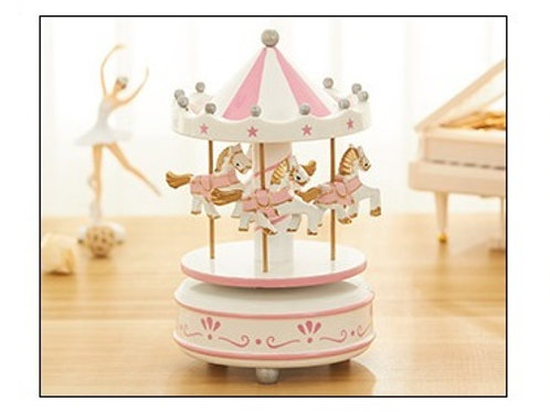 Carousel Musical Box - Pink Star