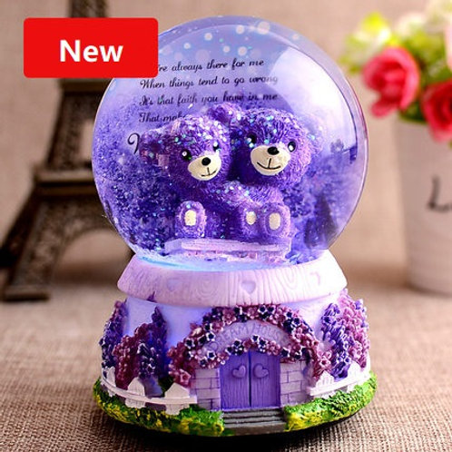 Crystal Ball Music Box - Hug