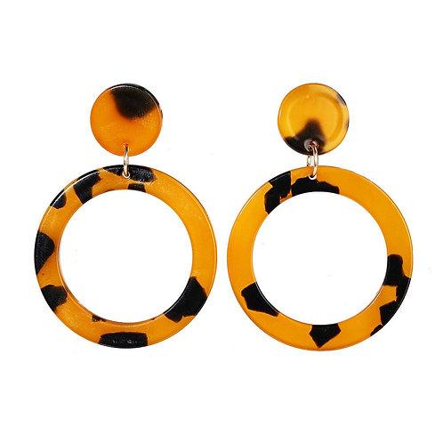 Leopard Acrylic Earring