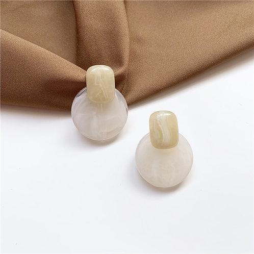 Korean Resin Round Earring