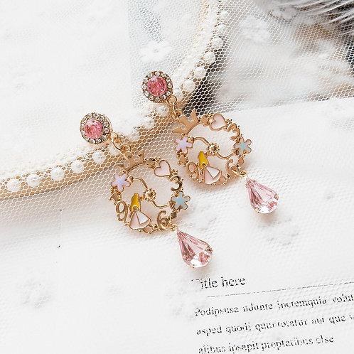 Princess' Garden Earring-Pink