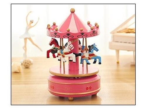 Carousel Musical Box - Hot Pink