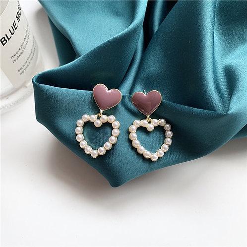Love Pearl Earring