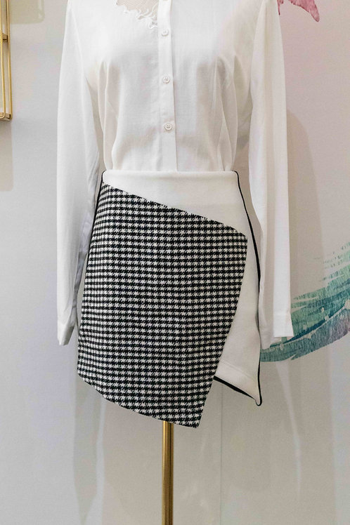 D.TWO Asymmetric Mini Skirt