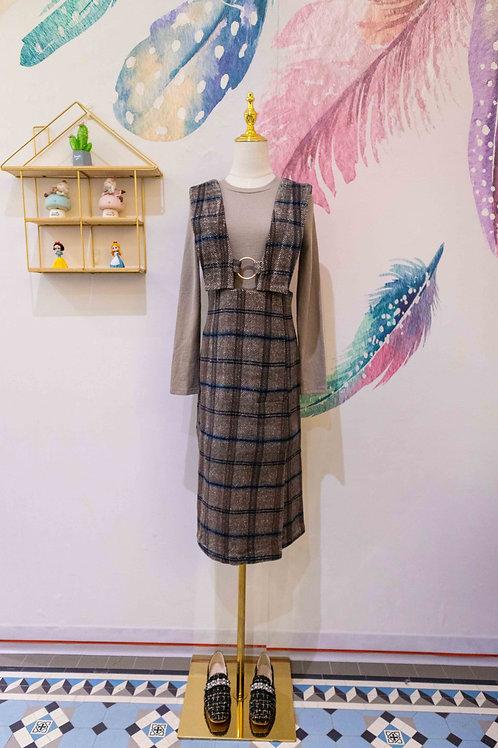 D.TWO Wool Strap Dress