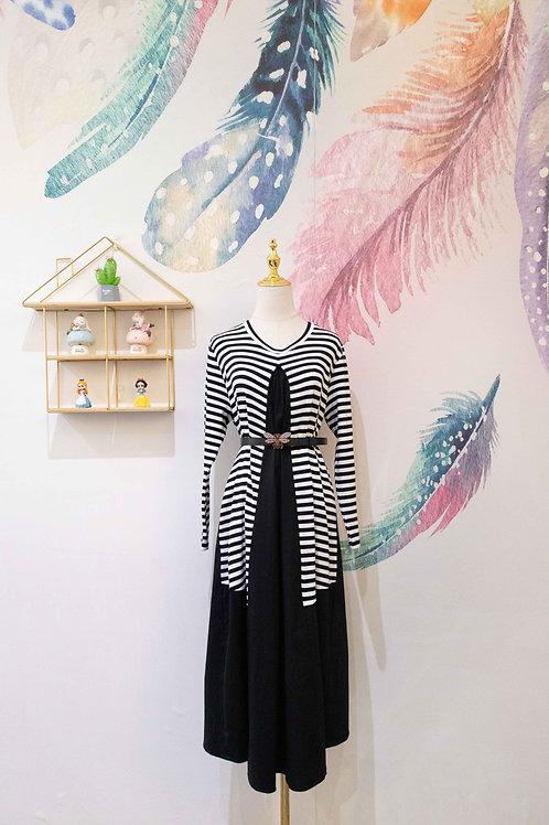 YANIDISI Stripe Long Dress