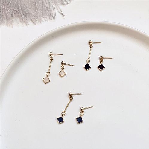Geometric Asymmetric Earring