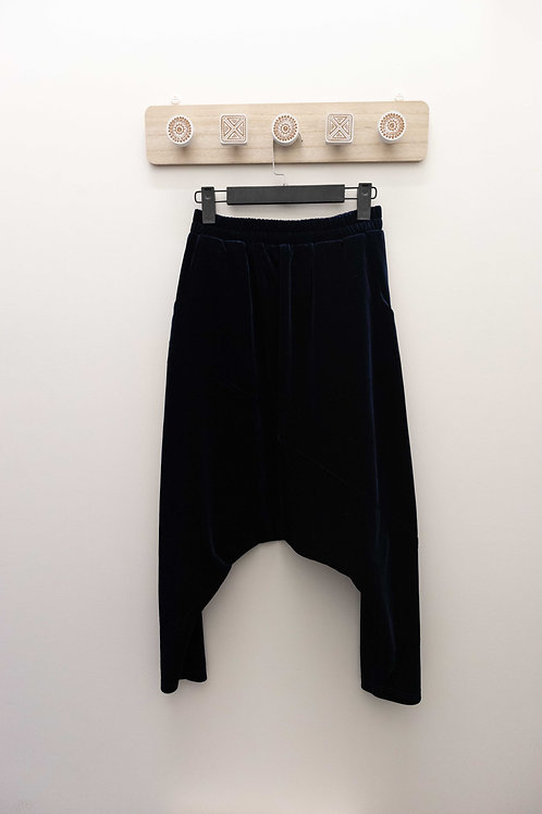 YANIDISI Drop Crotch Velvet Pant