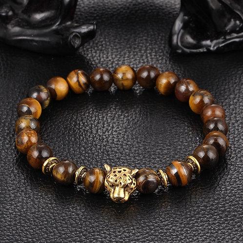 Leopard Bead Bracelet