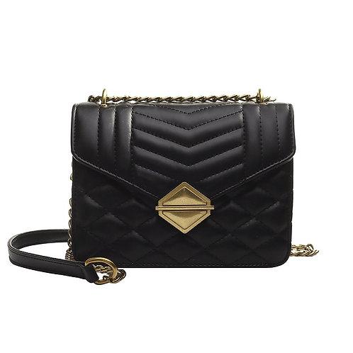 Black/Yellow/Green Crossbody Handbag