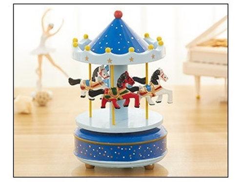Carousel Musical Box - Blue