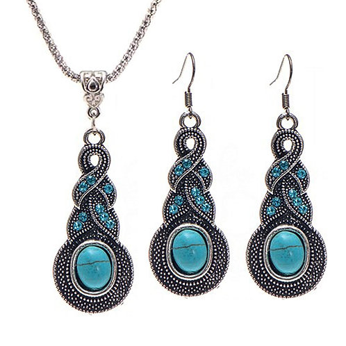 Turquoise Set- Earring & Necklace