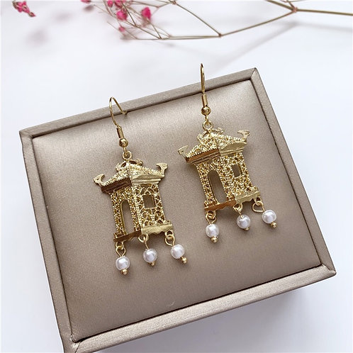 Chinese Pavilion Earring