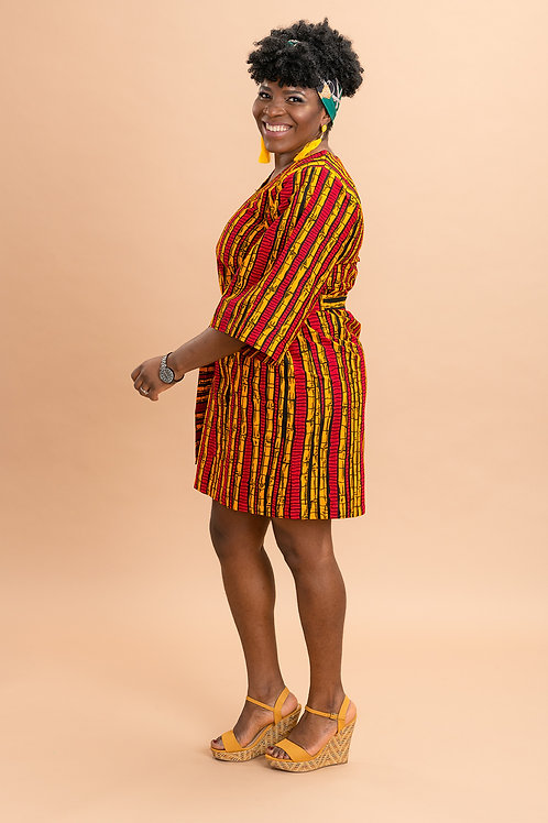 Ankara print mini dress