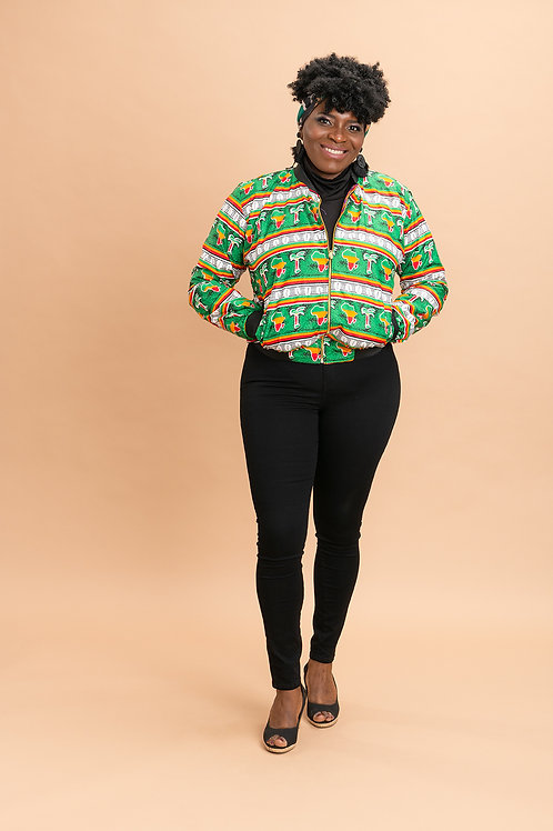 Ankara reversible jacket