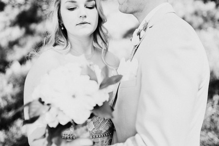 bride and groom portrait session