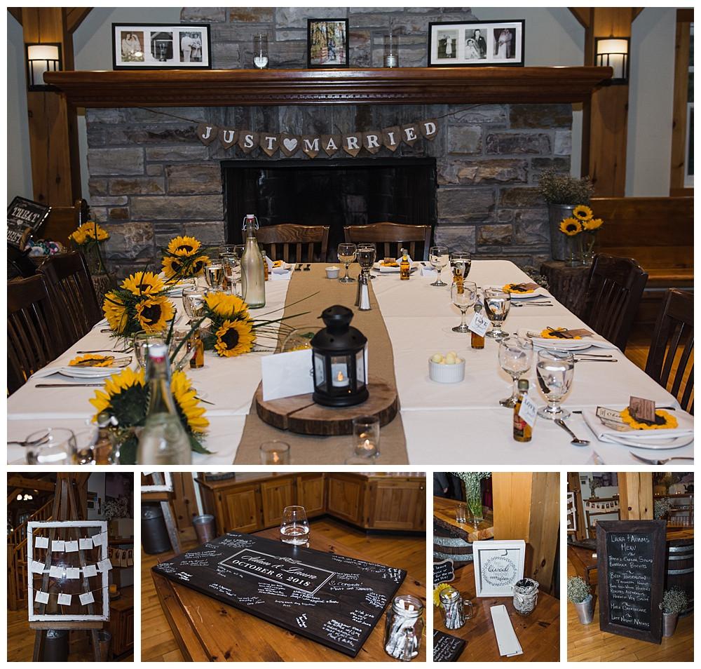Reception Details, Temples Sugar Bush, Ottawa Wedding Photographer, Ottawa Boudoir Photographer