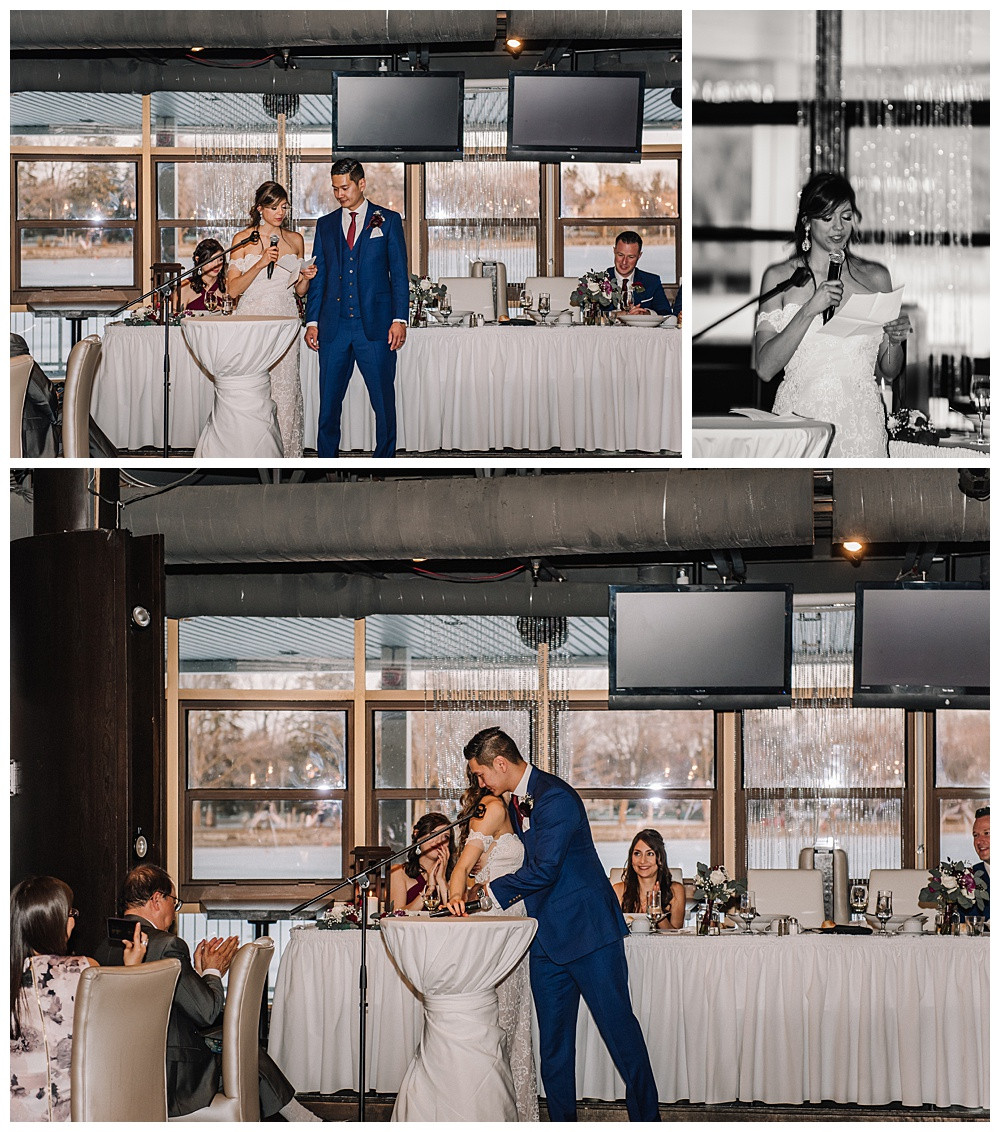 Ottawa Wedding Photographer, Ottawa Wedding Photography, Reception, Lago Bar & Grill, Bride & Groom Speech