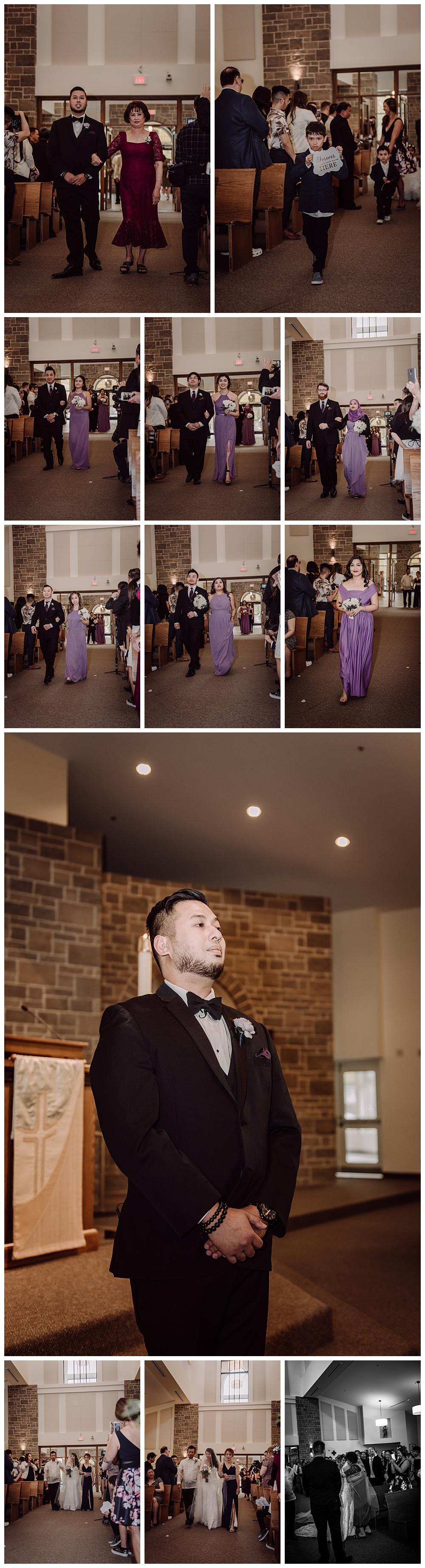 Walk Down Aisle, Groom, Groomsmen, Bridesmaid, Bride