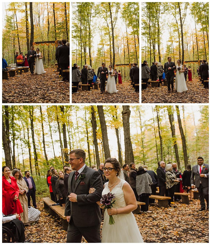 Bride & Groom Walking Back Down Asile, Temples Sugar Bush, Ottawa Wedding Photographer, Ottawa Boudoir Photographer
