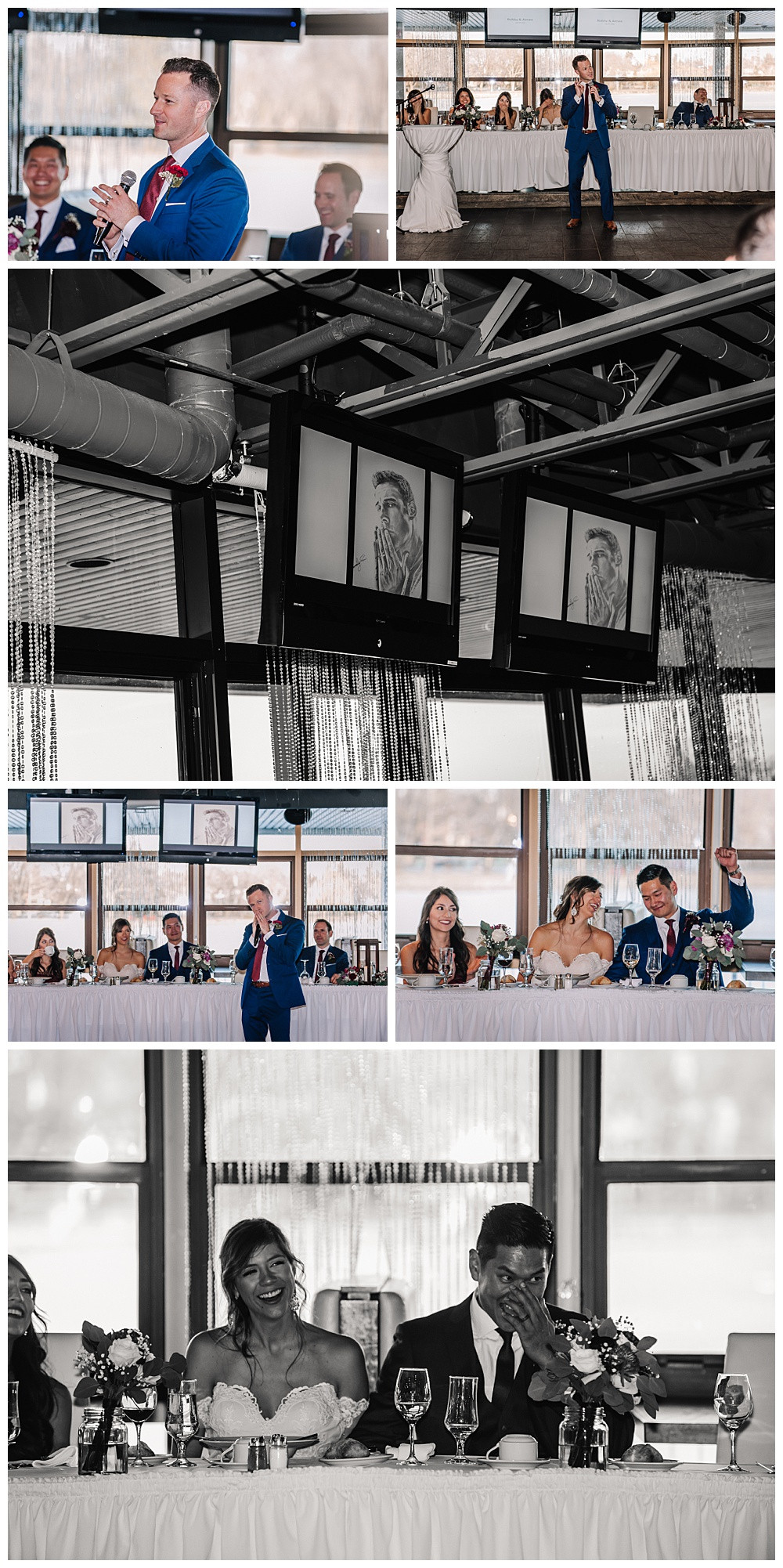 Ottawa Wedding Photographer, Ottawa Wedding Photography, Reception, Lago Bar & Grill, Best Man Speech