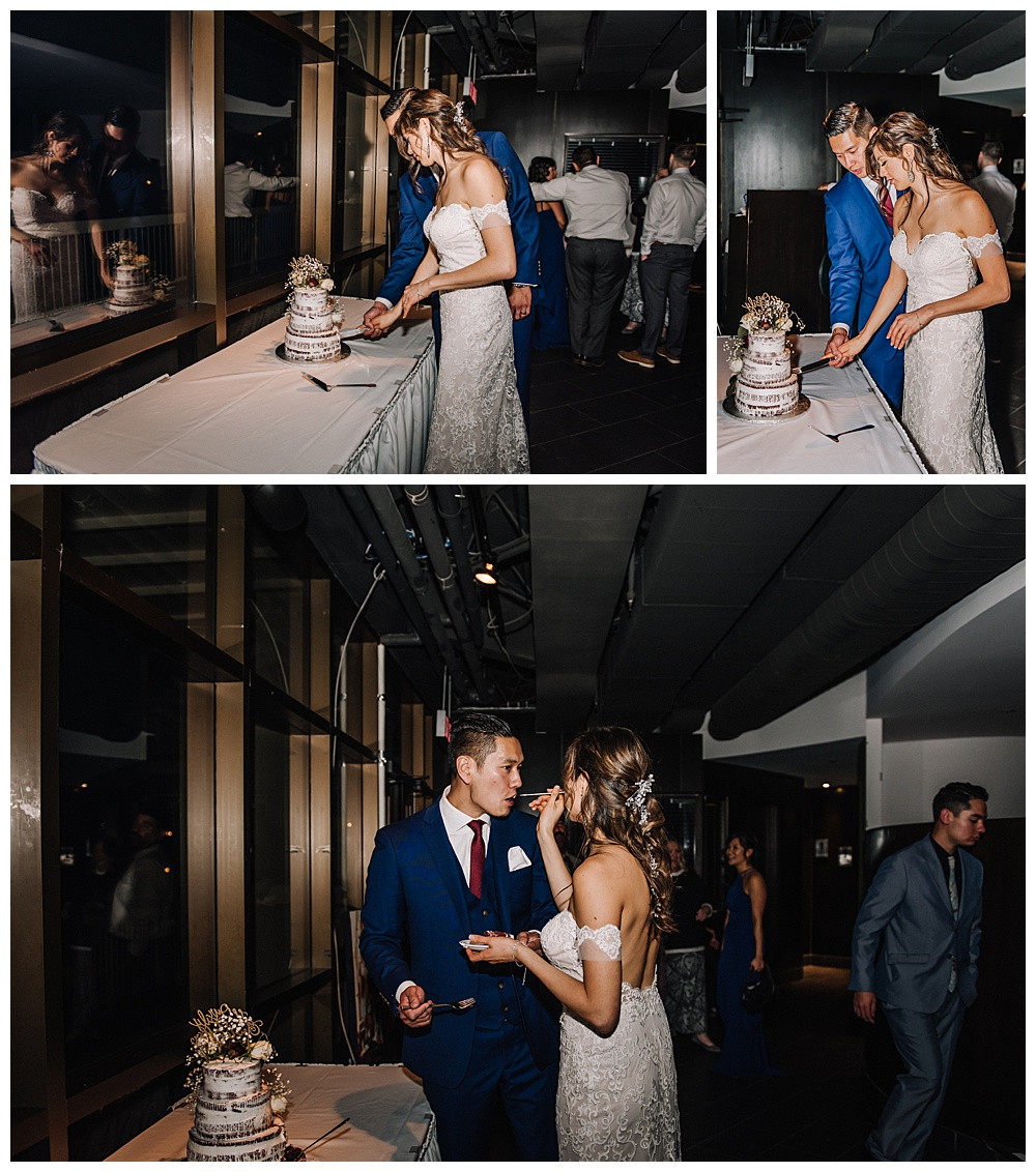 Ottawa Wedding Photographer, Ottawa Wedding Photography, Lago Bar & Grill, Reception, Cake Cutting
