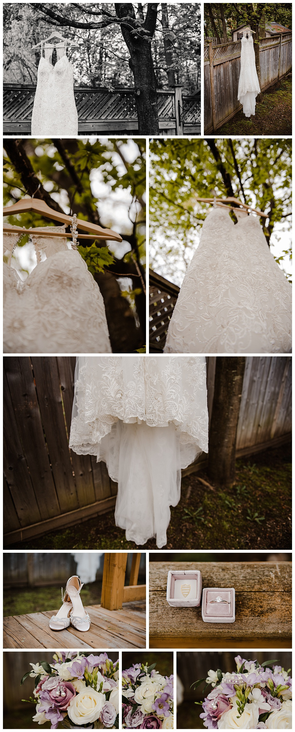 Wedding Dress, Wedding Shoes, Wedding Flowers, Wedding Rings, Wedding Jewellery, Detail Shots