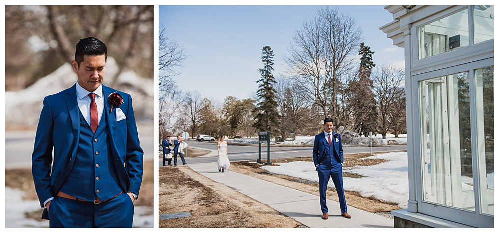 Ottawa Wedding Photographer, Ottawa Wedding Photography, First Look, Tropical Greenhouses Ottawa