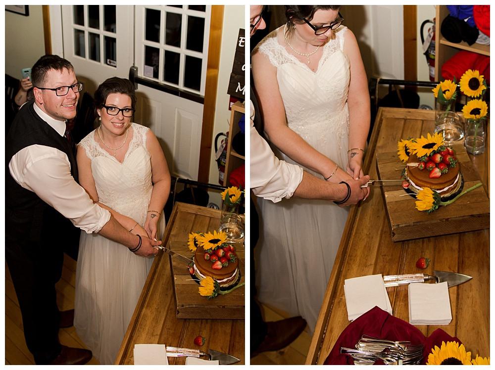 Cake Cutting, Temples Sugar Bush, Ottawa Wedding Photographer, Ottawa Boudoir Photographer