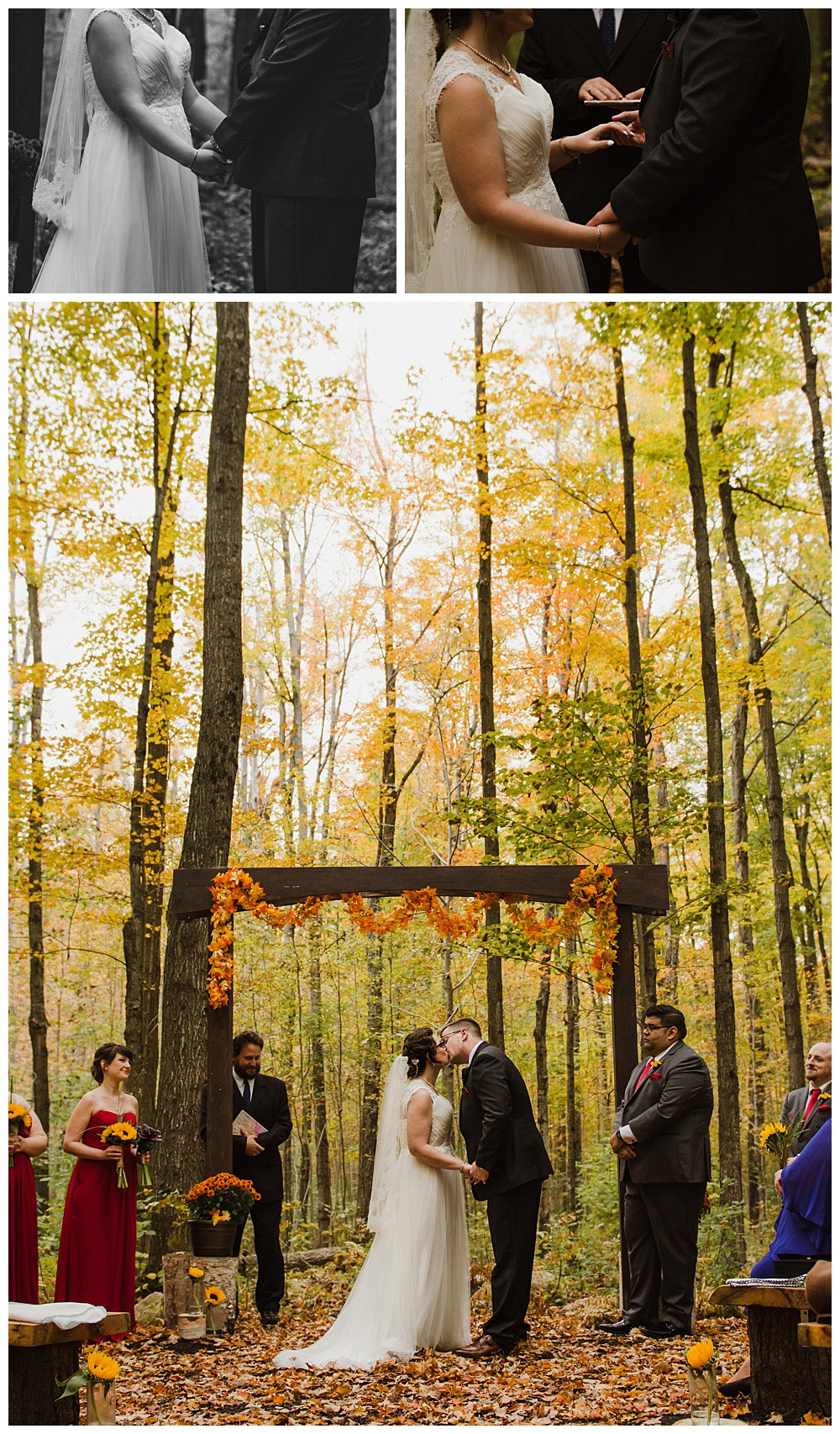 Ceremony, Temples Sugar Bush, Ottawa Wedding Photographer, Ottawa Boudoir Photographer