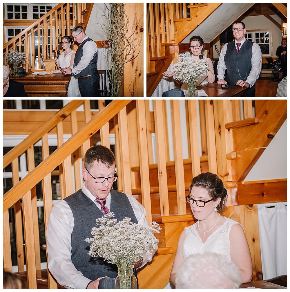 Bride & Groom Speech, Temples Sugar Bush, Ottawa Wedding Photographer, Ottawa Boudoir Photographer