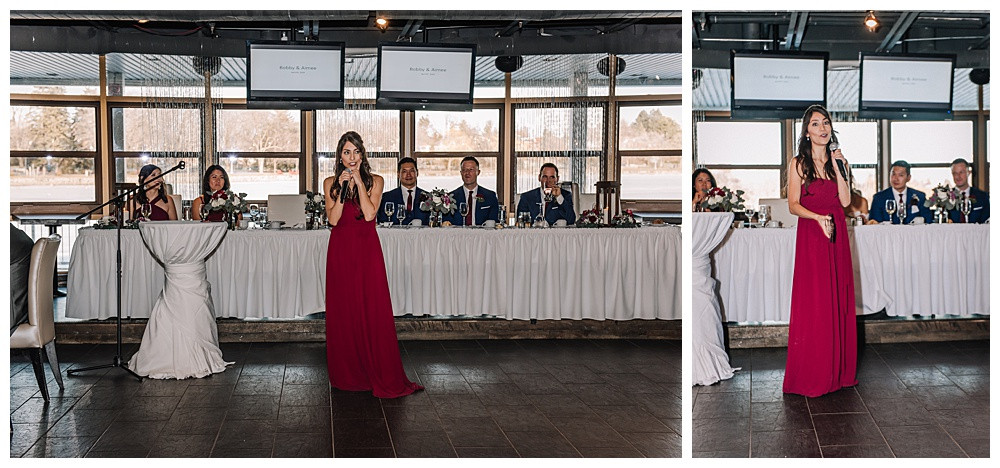 Ottawa Wedding Photographer, Ottawa Wedding Photography, Reception, Lago Bar & Grill, Maid of Honour Speech